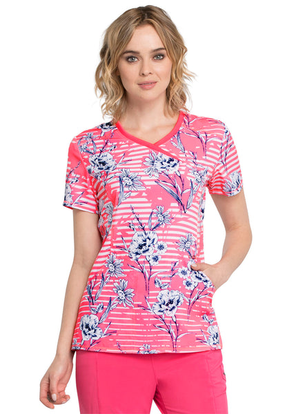 Infinity Line Me Up Floral Print Top - Company Store Uniforms