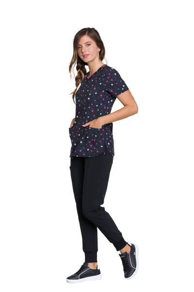 Infinity Dreaming About Stars V-Neck Print Top