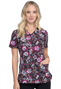 Infinity V-Neck Top in Night Bloom