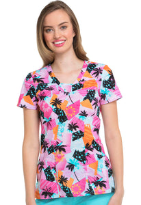 HeartSoul Beach Vibes V-Neck Print Top