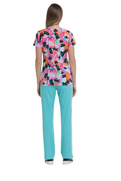 HeartSoul Beach Vibes V-Neck Print Top - Company Store Uniforms