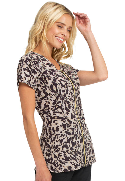 HeartSoul V-Neck Print Top in Go Wild