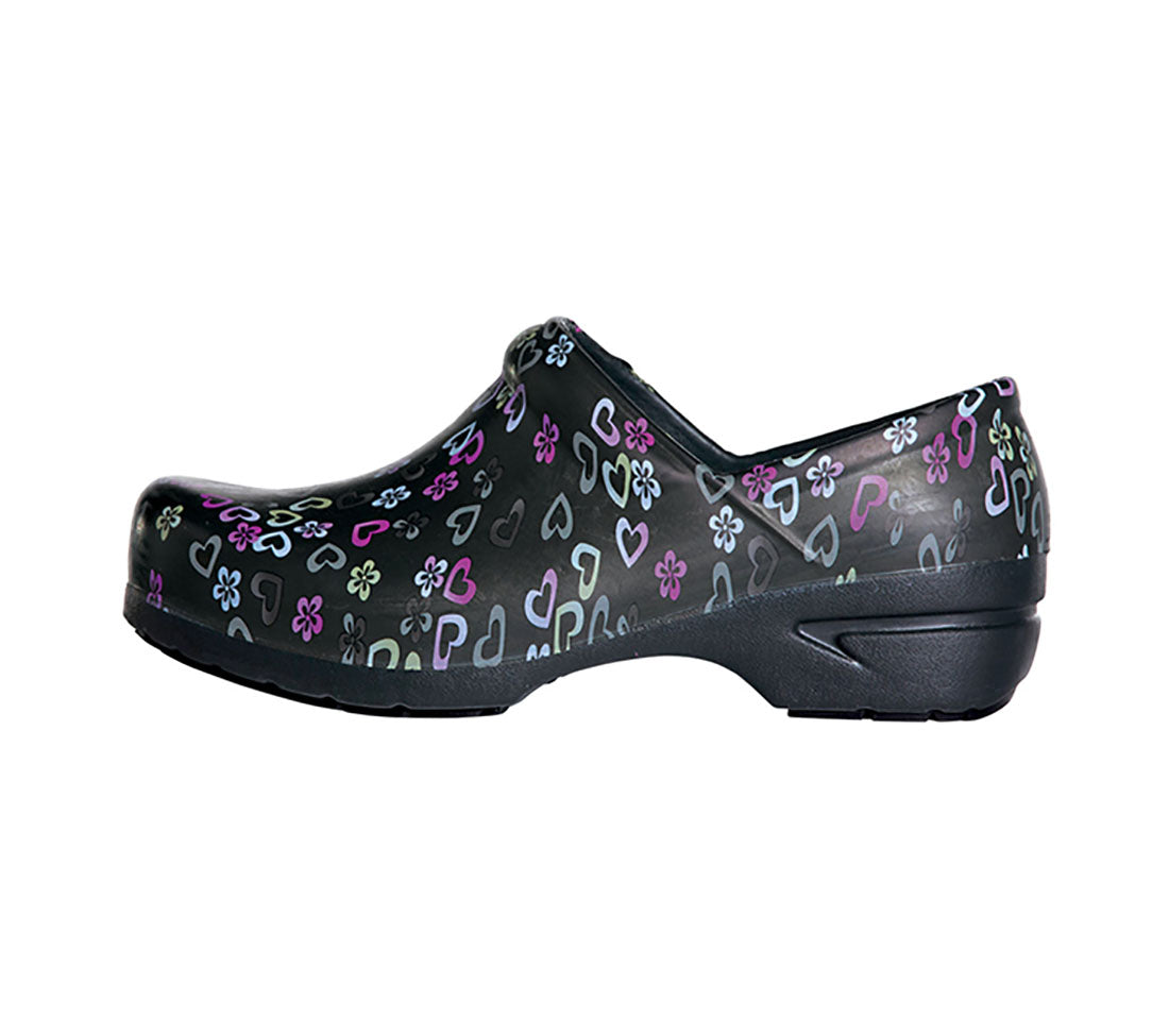 Anywear Lucky In Love Closed Back Plastic Clog