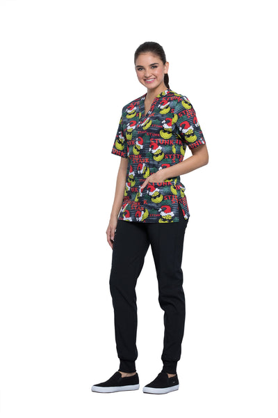 Tooniforms Unisex Stink Stank V-Neck Print Top - Company Store Uniforms