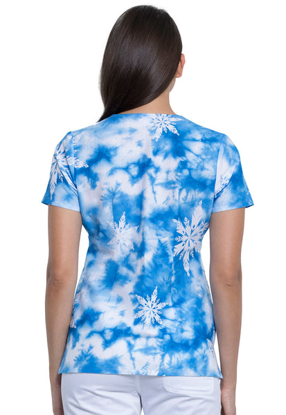 Tooniforms Elsa V-Neck Print Top - Company Store Uniforms