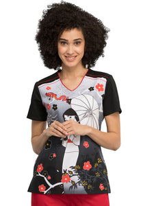 Tooniforms Mulan And Mushu Print Top - Company Store Uniforms