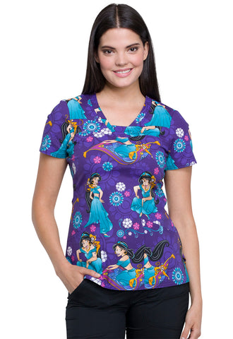 Tooniforms Jasmine and Abu Print Top - Company Store Uniforms