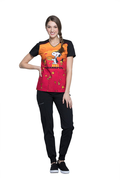 Snoopy Thanksgiving Print Top by Cherokee - Company Store Uniforms