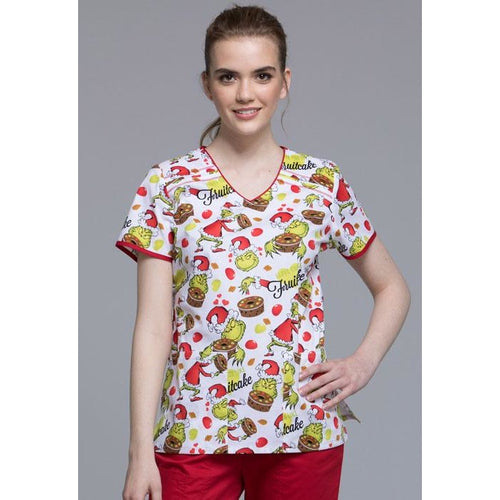 Tooniforms Grinch-cake Print Top
