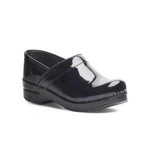 Dansko Women's Professional Clogs in Black Patent Leather