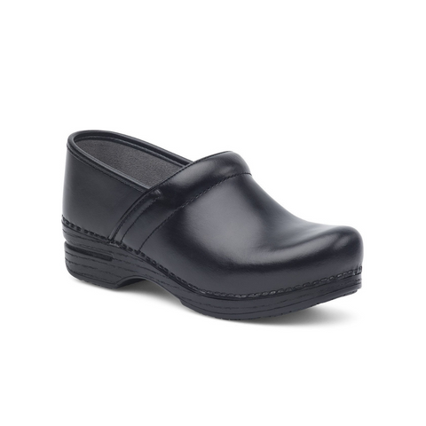 Dansko Women's Professional Clogs in Black Box Leather