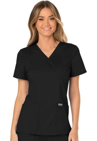 Workwear Revolution Mock Wrap Top