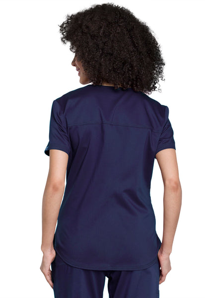 Cherokee Workwear Revolution V-Neck O.R. Top in Navy - Company Store Uniforms