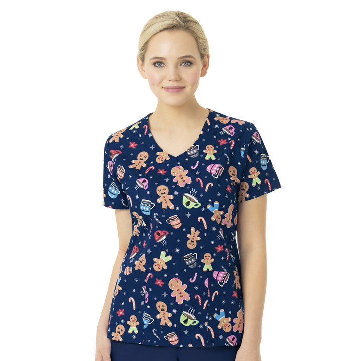 Zoe + Chloe Holiday Treats Print Top - Company Store Uniforms