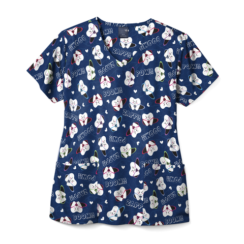 Zoe + Chloe Super Tooth Print Top