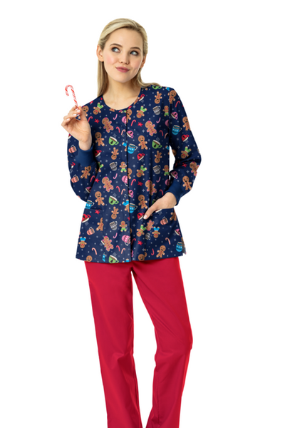 Zoe + Chloe Holiday Treats Print Jacket - Company Store Uniforms
