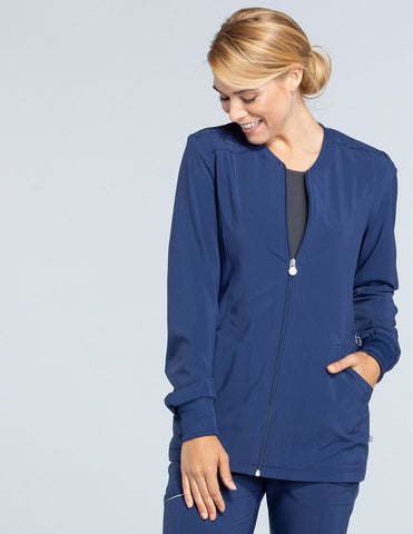 Infinity Zip Front Long Jacket