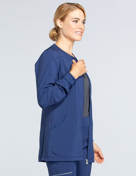 Infinity Zip Front Long Jacket - Company Store Uniforms