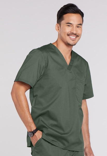 Cherokee Workwear Core Stretch Men's V-Neck Top - Company Store Uniforms