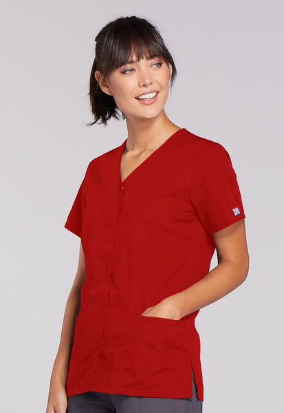 Cherokee Workwear Originals Snap Front V-Neck Top - Company Store Uniforms