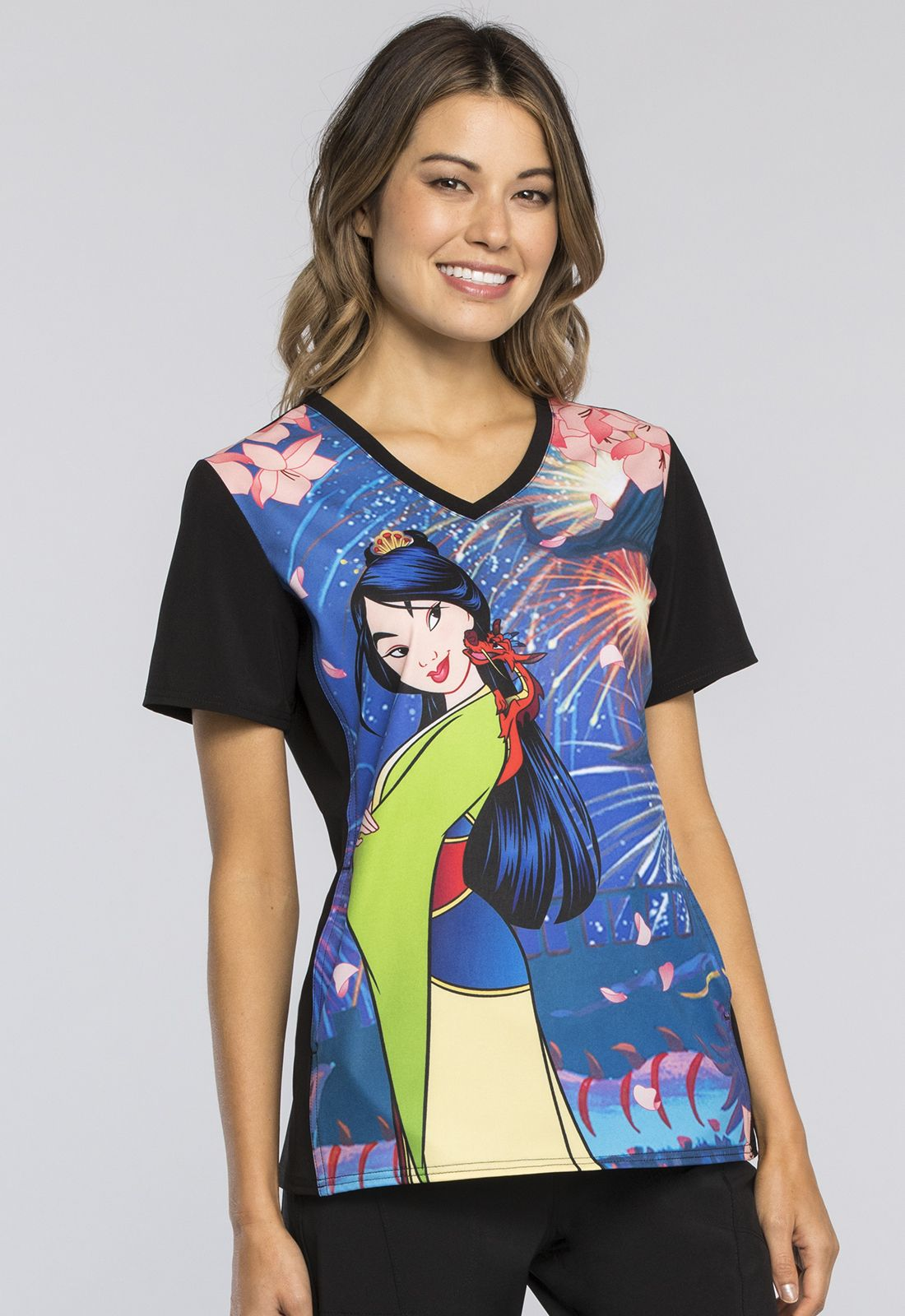 Tooniforms Mulan Print Top - Company Store Uniforms