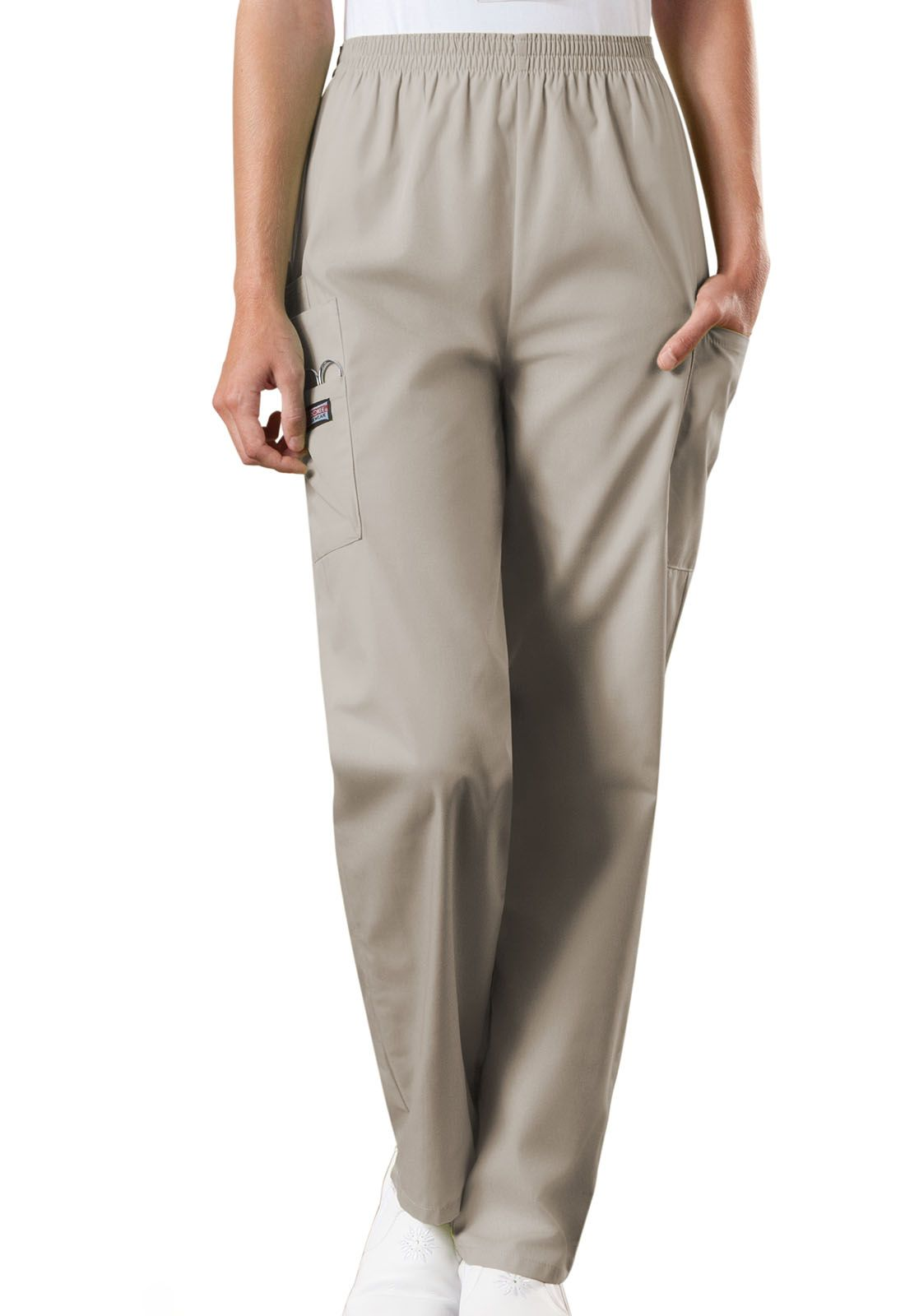 Cherokee Workwear Originals Natural Rise Tapered Pull-On Cargo Pant (Petite Length) - Company Store Uniforms