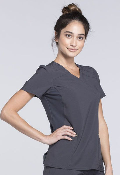 Cherokee iFlex Knit Panel Scrub Top - Company Store Uniforms