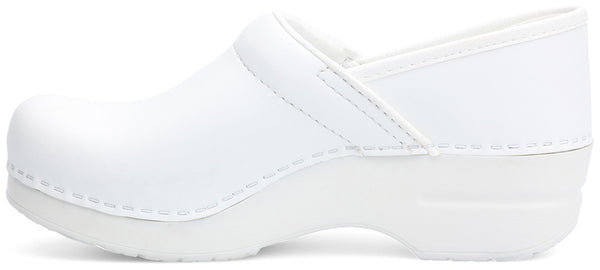 Dansko Women's Pro Box Leather Clogs in White - Company Store Uniforms