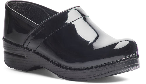 Dansko Women's Wide Pro Clogs in Black Patent Leather - Company Store Uniforms