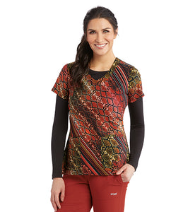 Grey's Anatomy Signature Desert Snake Print Top - Company Store Uniforms