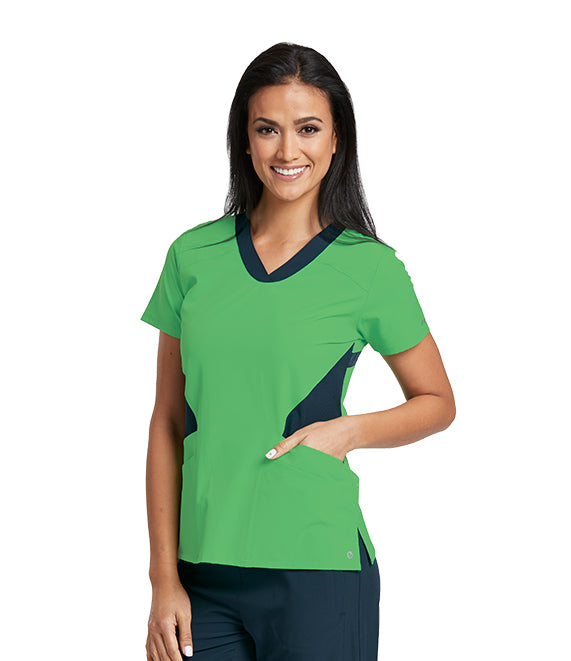 Barco One Active Top in Go Green - Company Store Uniforms