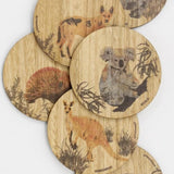 Buttonworks Coasters Set of 6 Animals