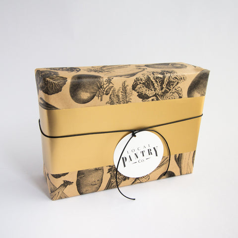 Fresh Produce kraft paper gift wrap