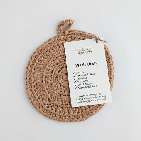 Wash Cloth Cotton Round