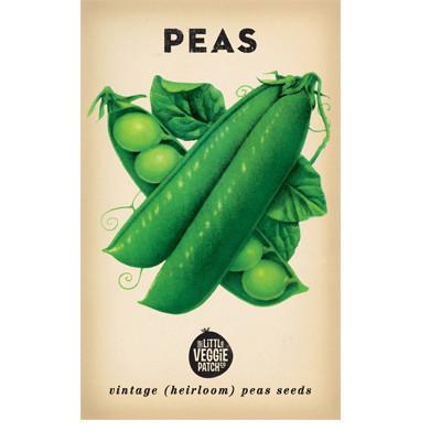 Little Veggie Patch Co Vintage Pea Illustration Poster