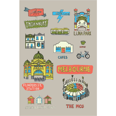 Melbourne Premium Cotton Tea Towels