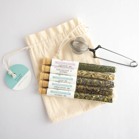 Organics for Lily Test tube tea set of 5