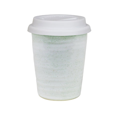 Robert Gordon Carousel Travel Mug Moss Green with White Lid