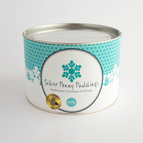 Silver Penny Pudding - Traditional Christmas Pudding 900gm