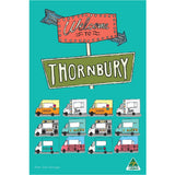 Welcome to Thornbury Sam Merrigan Tea Towel Melbourne