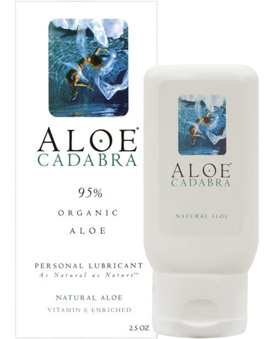 Aloe Cadabra Organic Lubricant - Natural 2.5 Oz Bottle