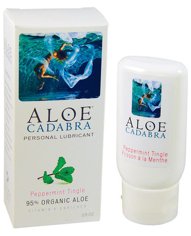 Aloe Cadabra Organic Lubricant - 2.5 Oz Bottle Peppermint Tingle