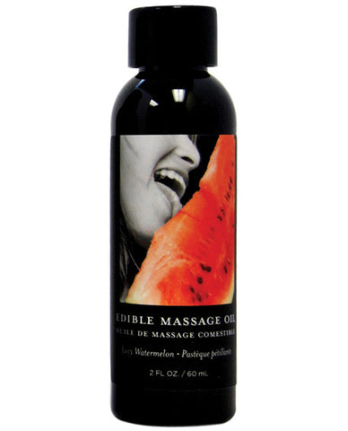 Earthly Body Edible Massage Oil - 2 Oz Watermelon