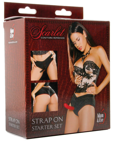 Adam & Eve Scarlet Couture Bondage Strap On Starter Set