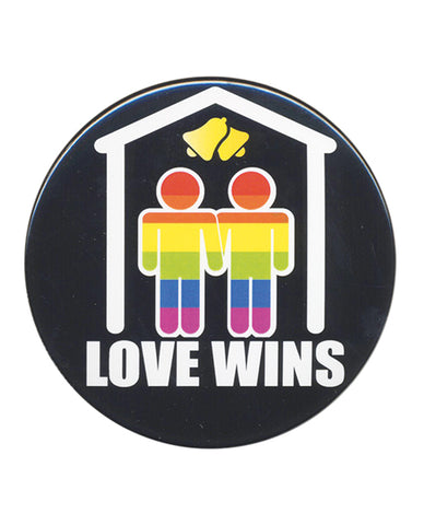 "3"" Button Men - Love Wins"