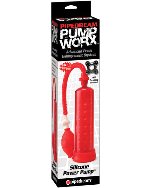 Pump Worx Silicone Power Pump - Red