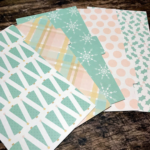 Pastel Christmas Set of 5 Planner Dividers-Planner Dividers-My Pretty Week
