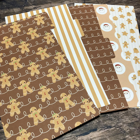 Gingerbread Set of 5 Planner Dividers-Planner Dividers-My Pretty Week