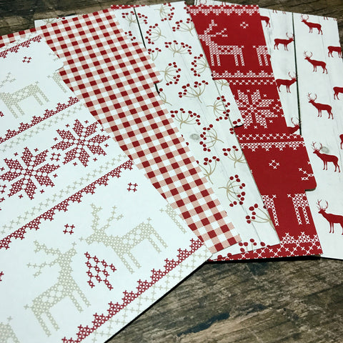 Scandi Christmas Set of 5 Planner Dividers-Planner Dividers-My Pretty Week