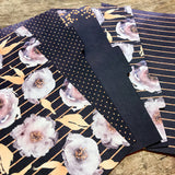 Dark Purple Floral Set of 5 Planner Dividers-Planner Dividers-My Pretty Week